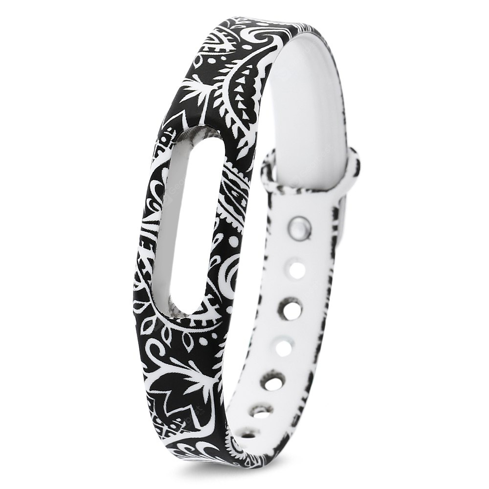 Watch Band for Xiaomi Miband 1 / 1S TPU Made Flower Pattern