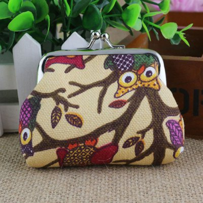 Women Cute Cartoon Owl Coin Purse Wallet