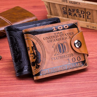 Men Retro US Dollar Compact Wallet with Magnetic HaspMens Wallets<br>Men Retro US Dollar Compact Wallet with Magnetic Hasp<br><br>Material: PU<br>Color: Black,Brown<br>Product weight: 0.080 kg<br>Package weight: 0.150 kg<br>Package Size(L x W x H): 18.00 x 9.00 x 12.00 cm / 7.09 x 3.54 x 4.72 inches<br>Packing List: 1 x Men Wallet