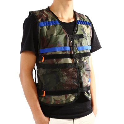 Soft Bullet Gun Tactical VestOutdoor Fun &amp; Sports<br>Soft Bullet Gun Tactical Vest<br><br>Materials: Cloth<br>Theme: Other<br>Features: Creative Toy<br>Series: Entertainment,Lifestyle<br>Package weight: 0.114 kg<br>Product size: 54.00 x 47.00 x 3.00 cm / 21.26 x 18.5 x 1.18 inches<br>Package size: 20.00 x 15.00 x 5.00 cm / 7.87 x 5.91 x 1.97 inches<br>Package Contents: 1 x Soft Bullet Gun Vest