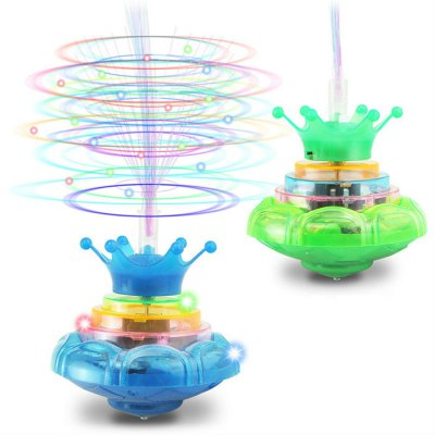 Plastic LED Light High Speed Gyro Wheel for Kid - 1pc