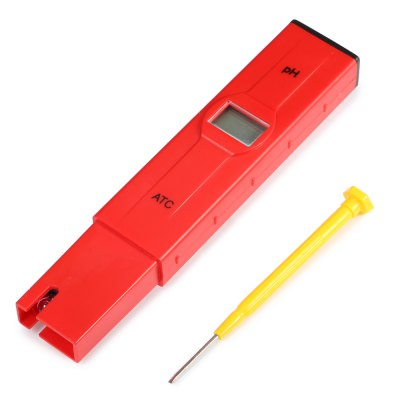Mini Pen Type Digital pH Meter with ATC / Backlit LCDTesters &amp; Detectors<br>Mini Pen Type Digital pH Meter with ATC / Backlit LCD<br><br>Accuracy  : 0.05 pH<br>Material: ABS<br>Measurement range : 0 - 14 pH<br>Package Contents: 1 x pH Test Pen, 2 x pH Buffer Powder, 1 x Screwdriver, 1 x English Manual<br>Package size (L x W x H): 19.00 x 8.00 x 4.00 cm / 7.48 x 3.15 x 1.57 inches<br>Package weight: 0.150 kg<br>Product size (L x W x H): 15.00 x 2.80 x 1.50 cm / 5.91 x 1.1 x 0.59 inches<br>Product weight: 0.058 kg<br>Resolution: 0.01 pH<br>Special function: Digital pH Meter Pen Tester<br>Temperature Compensation : 0 - 50 degree Celsius