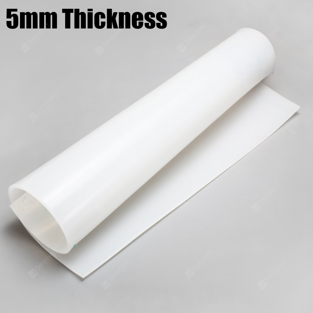 Buy Flexible Silicone Rubber Sheet Plate White At Gearbest