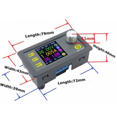 DP50V2A LCD Converter Adjustable Voltage Meter Regulator