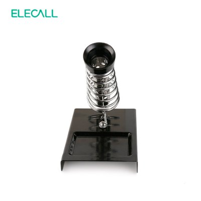 ELECALL C - 4 Soldering Iron StandSoldering Supplies<br>ELECALL C - 4 Soldering Iron Stand<br><br>Brand: ELECALL<br>Color: Black<br>Material: Iron<br>Model: C - 4<br>Package Contents: 1 x ELECALL C - 4 Durable Soldering Welder Iron Stand<br>Package size (L x W x H): 9.20 x 6.00 x 2.20 cm / 3.62 x 2.36 x 0.87 inches<br>Package weight: 0.238 kg<br>Product size (L x W x H): 8.20 x 5.00 x 1.20 cm / 3.23 x 1.97 x 0.47 inches<br>Product weight: 0.203 kg<br>Special function: Soldering Stand<br>Type: Soldering Iron