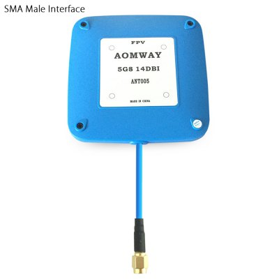 Aomway 5.8G 14dBi High Gain Flat Receiver Antenna Accessory for Multicopter DIY Project