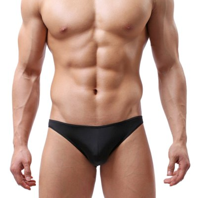 Male Sexy Low-waist Ice Silk Breathable Seamless Briefs