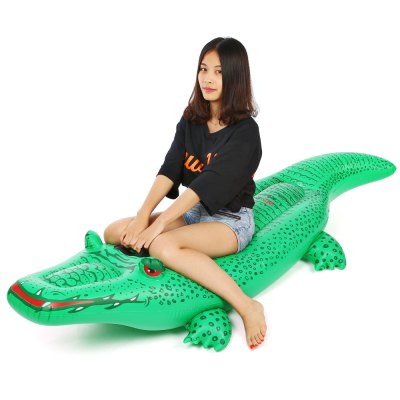 Inflatable Crocodile Rider PVC Float Row Swimming Boats