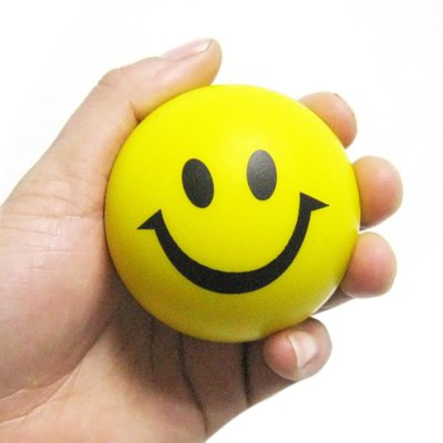 6.3cm Smile Face Squeeze Ball
