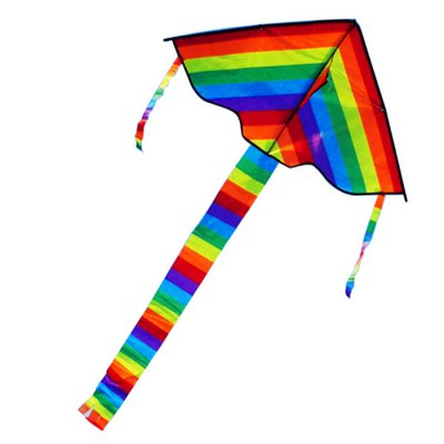 Foldable Rainbow Kite Triangle Kid Outdoor Sport ToyOutdoor Fun &amp; Sports<br>Foldable Rainbow Kite Triangle Kid Outdoor Sport Toy<br><br>Materials: Cloth,Metal<br>Theme: Other<br>Features: Creative Toy<br>Series: Entertainment<br>Package weight: 0.0850 kg<br>Product size: 110.00 x 50.00 x 5.00 cm / 43.31 x 19.69 x 1.97 inches<br>Package size: 60.00 x 6.00 x 6.00 cm / 23.62 x 2.36 x 2.36 inches<br>Package Contents: 1 x Colorful Kite