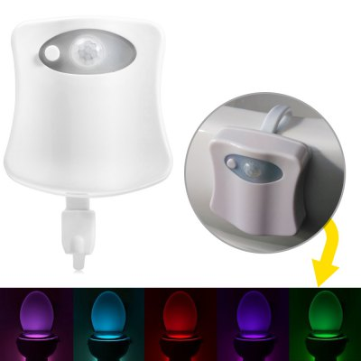 BRELONG AAA PIR LED Toilet Light Bathroom WashroomNovelty lighting<br>BRELONG AAA PIR LED Toilet Light Bathroom Washroom<br><br>Battery Type: 3 x AAA battery (not included)<br>Brand: BRELONG<br>Feature: Human Body Induction<br>Input Voltage: DC 4.5V<br>Material: ABS<br>Numbers of LED: 1 x SMD 0603<br>Optional Light Color: Colorful<br>Package Contents: 1 x BRELONG LED Toilet Light, 1 x English Manual<br>Package size (L x W x H): 16.00 x 10.00 x 5.00 cm / 6.3 x 3.94 x 1.97 inches<br>Package weight: 0.080 kg<br>Power: 0.5W<br>Power Supply: Battery<br>Product size (L x W x H): 7.00 x 6.50 x 1.80 cm / 2.76 x 2.56 x 0.71 inches<br>Product weight: 0.043 kg<br>Type: Night Light
