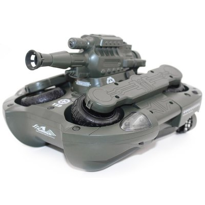 YED 24883 RC TankRC Cars<br>YED 24883 RC Tank<br><br>Brand: YED<br>Detailed Control Distance: 20~25m<br>Drive Type: 4 WD<br>Functions: Forward / Turn light, Forward/backward, LED, Shoot, Water and Land<br>Material: Plastic, Electronic Components<br>Package Contents: 1 x Tank, 1 x Transmitter, 1 x 7.2V 500mAh Ni-Cd Battery, 1 x 9V 500mAh Battery, 1 x Charger, 1 x English Manual<br>Package size (L x W x H): 37.00 x 26.00 x 19.00 cm / 14.57 x 10.24 x 7.48 inches<br>Package weight: 2.150 kg<br>Product size (L x W x H): 24.00 x 24.00 x 16.00 cm / 9.45 x 9.45 x 6.3 inches<br>Racing Time: About 25mins<br>Remote Control: 2.4GHz Wireless Remote Control<br>Transmitter Power: 1 x 9V battery<br>Type: Tank