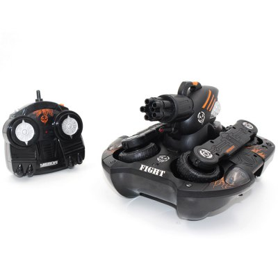 YED 24883B RC TankRC Cars<br>YED 24883B RC Tank<br><br>Brand: YED<br>Detailed Control Distance: 20~25m<br>Drive Type: 4 WD<br>Functions: Forward / Turn light, Forward/backward, LED, Shoot, Water and Land<br>Material: Plastic, Electronic Components<br>Package Contents: 1 x Tank, 1 x Transmitter, 1 x 7.2V 500mAh Ni-Cd Battery, 1 x 9V 500mAh Battery, 1 x Charger, 1 x English Manual<br>Package size (L x W x H): 37.00 x 26.00 x 19.00 cm / 14.57 x 10.24 x 7.48 inches<br>Package weight: 2.150 kg<br>Product size (L x W x H): 24.00 x 24.00 x 16.00 cm / 9.45 x 9.45 x 6.3 inches<br>Racing Time: About 25mins<br>Remote Control: 2.4GHz Wireless Remote Control<br>Transmitter Power: 1 x 9V battery<br>Type: Tank