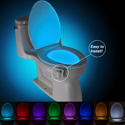 BRELONG AAA PIR LED Toilet Light Bathroom Washroom