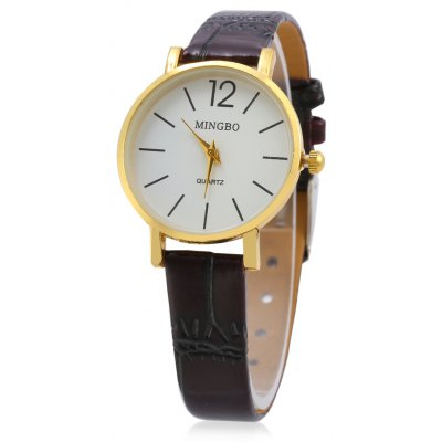 MINGBO 6008 Casual Small Size Dial Women Quartz Watch