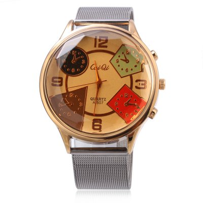 CaiQi A - 507 Fashion Multiple Colorful Patterns Dial Men Quartz WatchMens Watches<br>CaiQi A - 507 Fashion Multiple Colorful Patterns Dial Men Quartz Watch<br><br>Available Color: Gold,Silver<br>Band material: Steel<br>Band size: 24.2 x 2 cm / 9.53 x 0.79 inches<br>Brand: CaiQi<br>Case material: Stainless Steel<br>Clasp type: Pin buckle<br>Dial size: 4.5 x 4.5 x 1.3 cm / 1.77 x 1.77 x 0.51 inches<br>Display type: Analog<br>Movement type: Quartz watch<br>Package Contents: 1 x CaiQi A - 507 Fashion Men Quartz Watch<br>Package size (L x W x H): 25.20 x 5.50 x 2.30 cm / 9.92 x 2.17 x 0.91 inches<br>Package weight: 0.102 kg<br>Product size (L x W x H): 24.20 x 4.50 x 1.30 cm / 9.53 x 1.77 x 0.51 inches<br>Product weight: 0.069 kg<br>Shape of the dial: Round<br>Watch style: Fashion<br>Watches categories: Male table<br>Wearable length: 17.7 - 21.3 cm /