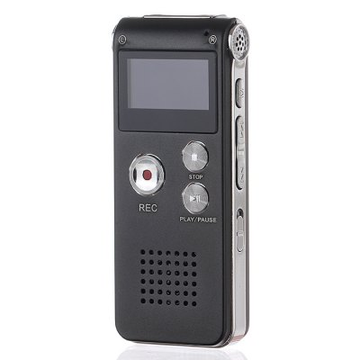 8GB GH609 Digital Voice Audio Recorder - Black