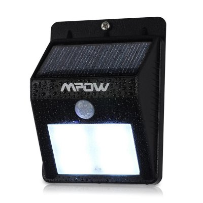 Mpow MSL3 Solar PIR LightOutdoor Lights<br>Mpow MSL3 Solar PIR Light<br><br>Brand: MPOW<br>Powered source: Solar<br>Light Type: Indoor Light,Outdoor Light,Solar Light<br>Color Temperature: 6000-6500K<br>Luminous Flux: 80LM<br>Optional Light Color: White<br>Features: Body Induction,Rechargeable,Waterproof<br>Total LED: 8<br>Rated Power (W): 0.8W<br>Solar Panel : 0.44W, 17pct<br>Battery Capacity: 2.22WH Li-ion battery<br>Charging time: 6-8h<br>Working Time: 8-10h<br>Product weight: 0.118 kg<br>Package weight: 0.167 kg<br>Product size (L x W x H): 11.40 x 8.60 x 4.20 cm / 4.49 x 3.39 x 1.65 inches<br>Package size (L x W x H): 12.40 x 9.60 x 5.20 cm / 4.88 x 3.78 x 2.05 inches<br>Package Contents: 1 x MPOW Solar PIR Light