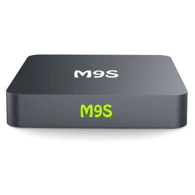 M9S Android TV Streaming Box Quad Core Amlogic S905TV Box &amp; Mini PC<br>M9S Android TV Streaming Box Quad Core Amlogic S905<br><br>Audio format: AAC, WMA, WAV, OGG, MP3, TrueHD, HD, AC3, FLAC, DTS, DDP, APE<br>Color: Gray<br>Core: Quad Core, 2.0GHz<br>CPU: Amlogic S905<br>Decoder Format: Xvid/DivX3/4/5/6, RM/RMVB, RealVideo8/9/10, HD AVC/VC-1, H.264, HD MPEG1/2/4<br>Firmware Version: Android 6.0<br>GPU: Mali-450<br>Interface: USB2.0, TF card, SPDIF, RJ45, AV, DC Power Port, HDMI<br>Language: Multi-language<br>Model: M9S<br>Package Contents: 1 x M9S TV Box, 1 x Remote Control, 1 x HDMI Cable, 1 x Power Adapter, 1 x English Manual<br>Package size (L x W x H): 17.50 x 12.00 x 5.50 cm / 6.89 x 4.72 x 2.17 inches<br>Package weight: 0.5000 kg<br>Photo Format: JPEG, GIF, BMP, PNG, TIFF<br>Power Adapter Output: 5V 2A<br>Power Supply: Charge Adapter<br>Power Type: External Power Adapter Mode<br>Processor: Amlogic S905<br>Product size (L x W x H): 9.00 x 9.00 x 2.00 cm / 3.54 x 3.54 x 0.79 inches<br>Product weight: 0.1000 kg<br>RAM: 1G RAM<br>RAM Type: DDR3<br>ROM: 8G ROM<br>System: Android 6.0<br>Type: TV Box<br>Video format: ASF, VOB, TS, RMVB, RM, MPG, MOV, MKV, MPEG, ISO, FLV, DAT, AVI, WMV