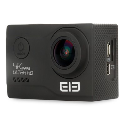 Elephone EleCam Explorer Elite 4K Action CameraAction Cameras<br>Elephone EleCam Explorer Elite 4K Action Camera<br><br>Aerial Photography: Yes<br>Anti-shake: Yes<br>Application: Ski<br>Audio System: Built-in microphone/speaker (AAC)<br>Auto Focusing: Yes<br>Battery Capacity (mAh): 1050mAh<br>Battery Type: External<br>Brand: Elephone<br>Brand Name: Elephone EleCam<br>Camera Timer: Yes<br>Charge way: AC adapter,USB charge by PC<br>Charging Time: 2H<br>Chipset: Novatek 96660<br>Chipset Name: Novatek<br>Delay Shutdown : Yes<br>Exposure Compensation: +0.3,+0.5,+1,+1.5,+2,-0.5,-1,-1.5,-2,0<br>Features: Wireless<br>Function: Anti-Shake, Camera Timer, Auto Focusing<br>Image Format : JPEG<br>Interface Type: TV-Out, Micro USB<br>Language: English,French,German,Italian,Portuguese,Russian,Simplified Chinese,Spanish<br>Lens Diameter: F =2.0mm<br>Max External Card Supported: TF 64G (not included)<br>Microphone: Built-in<br>Model: Explorer Elite<br>Night vision : No<br>Package Contents: 1 x Action Camera, 1 x Waterproof Cover, 1 x Adhesive Tape, 1 x Cleaning Cloth, 1 x Bandage, 1 x Bicycle Stand, 1 x Accessory Seat (1), 1 x Accessory Seat (2), 1 x Steel Rope, 1 x Ribbon, 1 x Fixing B<br>Package size (L x W x H): 24.50 x 11.00 x 8.30 cm / 9.65 x 4.33 x 3.27 inches<br>Package weight: 0.7250 kg<br>Power Supply: 5V 1A<br>Product size (L x W x H): 5.92 x 4.10 x 2.98 cm / 2.33 x 1.61 x 1.17 inches<br>Product weight: 0.0550 kg<br>Screen: With Screen<br>Screen resolution: 960 x 240<br>Screen size: 2.0inch<br>Screen type: TFT<br>Standby time: 100H<br>Time lapse: Yes<br>Time Stamp: Yes<br>Type: Sports Camera<br>Type of Camera: 4K<br>Video format: MP4<br>Video Frame Rate: 60FPS<br>Video Output : HDMI<br>Video Resolution: 1080P (1920 x 1080),2K(2560 x 1440)30fps,4K (3840 x 2160),720P (120fps)<br>Waterproof: Yes<br>Waterproof Rating : 30M<br>White Balance Mode: Auto<br>Wide Angle: 170 degree wide angle<br>WIFI: Yes<br>WiFi Distance : 50M<br>WiFi Function: Image Transmission,Remote Control<br>Working Time: 75mins (1080P)