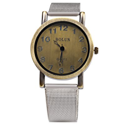 BOLUN C36 Retro Wind Arabic Numeral Dial Men Quartz WatchMens Watches<br>BOLUN C36 Retro Wind Arabic Numeral Dial Men Quartz Watch<br><br>Brand: Bolun<br>Watches categories: Male table<br>Watch style: Retro<br>Watch color: Bronzen<br>Movement type: Quartz watch<br>Shape of the dial: Round<br>Display type: Analog<br>Case material: Alloy<br>Band material: Steel<br>Clasp type: Pin buckle<br>Water resistance : Life water resistant<br>Dial size: 3.5 x 3.5 x 0.7 cm / 1.38 x 1.38 x 0.28 inches<br>Band size: 23.3 x 1.8 cm / 9.17 x 0.71 inches<br>Wearable length: 16.5 - 21 cm / 6.5 - 9.27 inches<br>Product weight: 0.041 kg<br>Package weight: 0.080 kg<br>Product size (L x W x H): 23.30 x 3.50 x 0.70 cm / 9.17 x 1.38 x 0.28 inches<br>Package size (L x W x H): 24.30 x 4.50 x 1.70 cm / 9.57 x 1.77 x 0.67 inches<br>Package Contents: 1 x BOLUN C36 Retro Wind Men Quartz Watch