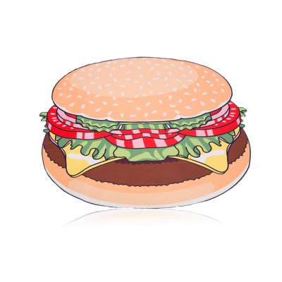 women-cartoon-hamburger-print-beach-towel