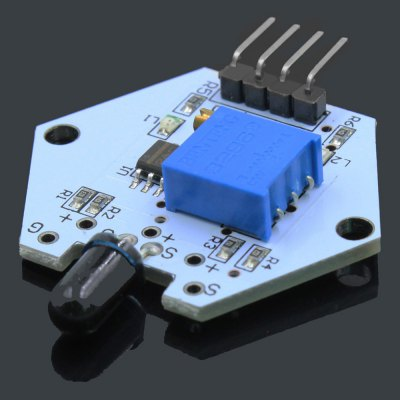 LDTR - 0004 Flame Detection Sensor ModuleSensors<br>LDTR - 0004 Flame Detection Sensor Module<br><br>Model: LDTR - 0004<br>Type: Sensor Module<br>Material: FR4<br>Mainly Compatible with: Ardunio<br>Input Voltage: 3.3-5V<br>Product weight: 0.003 kg<br>Package weight: 0.022 kg<br>Product Size(L x W x H): 4.20 x 3.50 x 0.70 cm / 1.65 x 1.38 x 0.28 inches<br>Package Size(L x W x H): 7.00 x 5.00 x 1.80 cm / 2.76 x 1.97 x 0.71 inches<br>Package Contents: 1 x LDTR - 0004 Flame Detection Sensor Module for Arduino