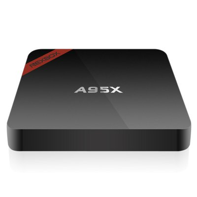 NEXBOX A95X - B7N TV Box Quad core Amlogic S905XTV Box &amp; Mini PC<br>NEXBOX A95X - B7N TV Box Quad core Amlogic S905X<br><br>Brand: NEXBOX<br>Model: A95X - B7N<br>Type: TV Box<br>System: Android 6.0<br>CPU: Amlogic S905X<br>Core: 2.0GHz<br>GPU: Mali-450 MP<br>RAM: 2G<br>RAM Type: DDR3<br>ROM: 8G<br>Maximum External Hard Drives Capacity: 500GB<br>Color: Black<br>Decoder Format: HD MPEG1/2/4,H.264,H.265,HD AVC/VC-1,RealVideo8/9/10,RM/RMVB,Xvid/DivX3/4/5/6<br>Video format: 4K x 2K,ASF,AVI,DAT,FLV,ISO,MKV,MOV,MP4,MPEG,MPG,RM,RMVB,TS,VP9,WMV<br>Audio format: AAC,AC3,APE,DDP,DTS,FLAC,HD,MP3,OGG,TrueHD,WAV,WMA<br>Photo Format: BMP,GIF,JPEG,PNG,TIFF<br>Support 5.1 Surround Sound Output: No<br>5G WiFi: No<br>WIFI: 802.11b/g/n<br>Bluetooth: Bluetooth4.0<br>Power Supply: Charge Adapter<br>Interface: AV,DC Power Port,HDMI,LAN,RJ45,SPDIF,TF card,USB2.0<br>Language: Danish,English,Finnish,Japanese,Korean,Serbian language,Simplified Chinese,Traditional Chinese<br>DVD Support: No<br>HDMI Version: 2.0<br>Other Functions: Others<br>External Subtitle Supported: No<br>System Bit: 64Bit<br>KODI Pre-installed: Yes<br>KODI Version: 16.0<br>Power Type: External Power Adapter Mode<br>Power Adapter Output: 5V 2A<br>Product weight: 0.0770 kg<br>Package weight: 0.3950 kg<br>Product size (L x W x H): 9.30 x 9.30 x 1.50 cm / 3.66 x 3.66 x 0.59 inches<br>Package size (L x W x H): 18.50 x 12.80 x 5.00 cm / 7.28 x 5.04 x 1.97 inches<br>Package Contents: 1 x A95X - B7N Android TV Box, 1 x Remote Control, 1 x HDMI Cable, 1 x Power Adapter, 1 x English Manual