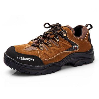Male Breathable Mountaineering Shoes with Anti-slip SoleShoes<br>Male Breathable Mountaineering Shoes with Anti-slip Sole<br><br>Closure Type: Lace-Up<br>Color: Army green,Brown<br>Features: Breathable, Crashworthy, Durable, Water Resistant<br>Gender: Men<br>Package Contents: 1 x Pair of Mountaineering Shoes<br>Package size: 32.00 x 22.00 x 12.00 cm / 12.6 x 8.66 x 4.72 inches<br>Package weight: 1.430 kg<br>Product weight: 1.200 kg<br>Season: Spring, Winter, Autumn, Summer<br>Size: 42,43,44<br>Sole Material: Rubber