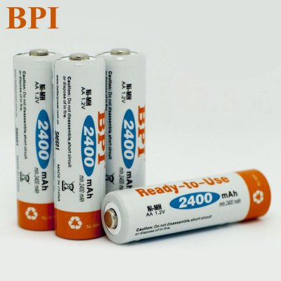 4 x BPI 2400mAh 1.2V Rechargeable AA Ni-MH Battery