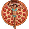 Women Cartoon Pizza Print Beach Towel