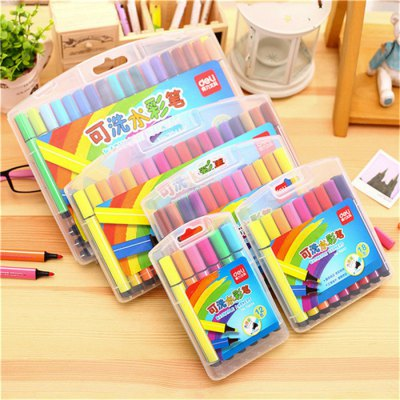 Deli 48PCS Washable MarkerPainting Supplies<br>Deli 48PCS Washable Marker<br><br>Brand: Deli<br>Available color: Multi-color<br>Material: Plastic<br>Product weight: 0.480 kg<br>Package weight: 0.520 kg<br>Product size (L x W x H): 10.00 x 1.20 x 1.20 cm / 3.94 x 0.47 x 0.47 inches<br>Package size (L x W x H): 27.00 x 21.00 x 3.50 cm / 10.63 x 8.27 x 1.38 inches<br>Package Contents: 48 x Washable Marker, 1 x Case