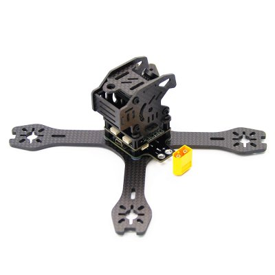 GB155 155mm 3mm Arm Carbon Fiber Frame KitRacing Frame<br>GB155 155mm 3mm Arm Carbon Fiber Frame Kit<br><br>Type: Frame Kit<br>Product weight: 0.160 kg<br>Package weight: 0.255 kg<br>Package size (L x W x H): 18.00 x 18.00 x 22.00 cm / 7.09 x 7.09 x 8.66 inches<br>Package Contents: 1 x Frame Kit, 1 x PDB Board, 1 x Battery Tie, 1 x Connector