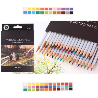 DELI 36PCS Assorted Water Soluble Drawing StationeryPainting Supplies<br>DELI 36PCS Assorted Water Soluble Drawing Stationery<br><br>Brand: Deli<br>Writing Instruments: Pencil<br>Available Color: Multi-color<br>Material: Wood<br>Package weight: 0.350 kg<br>Product size (L x W x H): 14.30 x 0.80 x 0.80 cm / 5.63 x 0.31 x 0.31 inches<br>Package size (L x W x H): 31.00 x 18.50 x 1.30 cm / 12.2 x 7.28 x 0.51 inches<br>Package Contents: 36 x Soluble Color Pencil Lead, 1 x Brush Pen, 1 x Case
