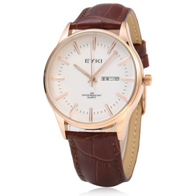 EYKI 1031 Casual Men Dual Calendar Nail Scale Quartz Watch