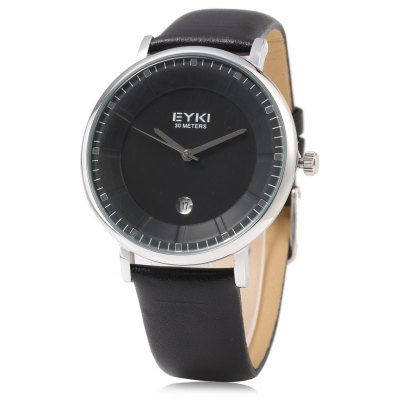 EYKI 1029 Casual Men Stereo Dial Date Displaying Quartz Watch