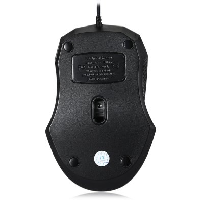 T530 1.8m Cable 1000DPI USB Optical Mouse with 3 Buttons for Home Office