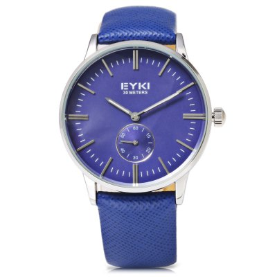EYKI 1030 Casual Nail Scale Small Dial Men Quartz WatchMens Watches<br>EYKI 1030 Casual Nail Scale Small Dial Men Quartz Watch<br><br>Brand: Eyki<br>Watches categories: Male table<br>Watch style: Casual<br>Available color: Black,Gold,Rose Gold,Silver<br>Movement type: Quartz watch<br>Shape of the dial: Round<br>Display type: Analog<br>Case material: Stainless Steel<br>Band material: Genuine Leather<br>Clasp type: Pin buckle<br>Water resistance : 30 meters<br>Dial size: 3.8 x 3.8 x 1 cm / 1.5 x 1.5 x 0.39 inches<br>Band size: 24.2 x 2 / 9.53 x 0.79 inches<br>Wearable length: 17.8 - 22 cm / 7.01 - 8.67 inches<br>Product weight: 0.044 kg<br>Package weight: 0.080 kg<br>Product size (L x W x H): 24.20 x 3.80 x 1.00 cm / 9.53 x 1.5 x 0.39 inches<br>Package size (L x W x H): 25.20 x 4.80 x 2.00 cm / 9.92 x 1.89 x 0.79 inches<br>Package Contents: 1 x EYKI 1030 Casual Men Quartz Watch