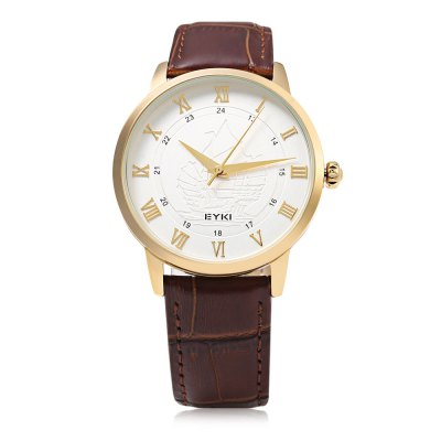 EYKI 1032L Casual Sailing Ship Emboss Men Quartz WatchMens Watches<br>EYKI 1032L Casual Sailing Ship Emboss Men Quartz Watch<br><br>Available Color: Black,Gold,White<br>Band material: Leather<br>Band size: 25 x 2 cm / 9.84 x 0.79 inches<br>Brand: Eyki<br>Case material: Stainless Steel<br>Clasp type: Pin buckle<br>Dial size: 4 x 4 x 1 cm / 1.57 x 1.57 x 0.39 inches<br>Display type: Analog<br>Movement type: Quartz watch<br>Package Contents: 1 x EYKI 1032L Casual Men Quartz Watch<br>Package size (L x W x H): 26.00 x 5.00 x 2.00 cm / 10.24 x 1.97 x 0.79 inches<br>Package weight: 0.076 kg<br>Product size (L x W x H): 25.00 x 4.00 x 1.00 cm / 9.84 x 1.57 x 0.39 inches<br>Product weight: 0.042 kg<br>Shape of the dial: Round<br>Watch style: Casual<br>Watches categories: Male table<br>Water resistance : 30 meters<br>Wearable length: 18 - 23 cm / 7.09 - 9.06 inches