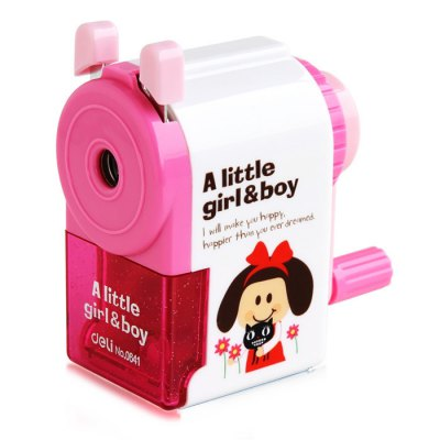 Deli Cartoon Little Girl / Boy  Style Manual Pencil Sharpener
