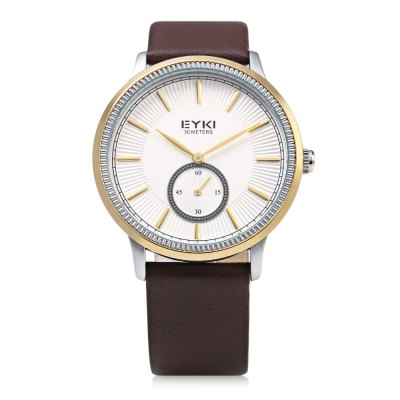 EYKI 1011 Casual Small Dial Nail Scale Men Quartz WatchMens Watches<br>EYKI 1011 Casual Small Dial Nail Scale Men Quartz Watch<br><br>Available Color: Gold,Rose Gold,White<br>Band material: Leather<br>Band size: 24.5 x 2 cm / 9.65 x 0.79 inches<br>Brand: Eyki<br>Case material: Stainless Steel<br>Clasp type: Pin buckle<br>Dial size: 4 x 4 x 1 cm / 1.57 x 1.57 x 0.39 inches<br>Display type: Analog<br>Movement type: Quartz watch<br>Package Contents: 1 x EYKI 1011 Casual Men Quartz Watch<br>Package size (L x W x H): 25.50 x 5.00 x 2.00 cm / 10.04 x 1.97 x 0.79 inches<br>Package weight: 0.084 kg<br>Product size (L x W x H): 24.50 x 4.00 x 1.00 cm / 9.65 x 1.57 x 0.39 inches<br>Product weight: 0.049 kg<br>Shape of the dial: Round<br>Watch style: Casual<br>Watches categories: Male table<br>Water resistance : 30 meters<br>Wearable length: 18 - 22.2 cm / 7.09 - 8.74 inches