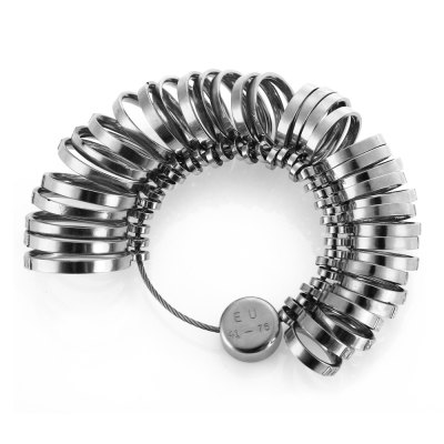 Yeshold EU Size 41 - 76 Stainless Steel Ring Sizer Set
