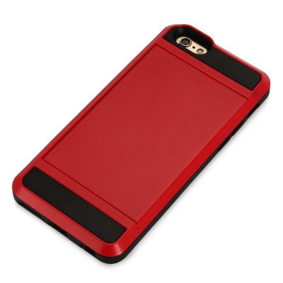 Practical Phone Back Case for iPhone 6 / 6SiPhone Cases/Covers<br>Practical Phone Back Case for iPhone 6 / 6S<br><br>Color: Black,Gold,Red,Silver<br>Compatible for Apple: iPhone 6, iPhone 6S<br>Features: Anti-knock, Back Cover, With Credit Card Holder<br>Material: PC, PVC<br>Package Contents: 1 x Case<br>Package size (L x W x H): 21.00 x 11.00 x 2.40 cm / 8.27 x 4.33 x 0.94 inches<br>Package weight: 0.092 kg<br>Product size (L x W x H): 14.00 x 7.00 x 1.40 cm / 5.51 x 2.76 x 0.55 inches<br>Product weight: 0.047 kg<br>Style: Cool