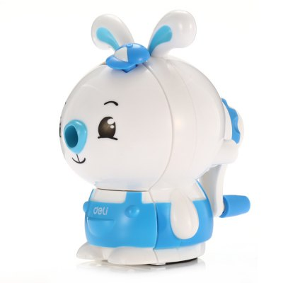 Deli Cartoon Rabbit Style Manual Pencil SharpenerSchool Supplies<br>Deli Cartoon Rabbit Style Manual Pencil Sharpener<br><br>Available Color: Blue,Pink<br>Brand: Deli<br>Package Contents: 1 x Deli Cartoon Rabbit Style Pencil Sharpener<br>Package size (L x W x H): 16.00 x 13.00 x 11.00 cm / 6.3 x 5.12 x 4.33 inches<br>Package weight: 0.1990 kg<br>Product size (L x W x H): 15.00 x 12.00 x 10.00 cm / 5.91 x 4.72 x 3.94 inches<br>Product weight: 0.1390 kg
