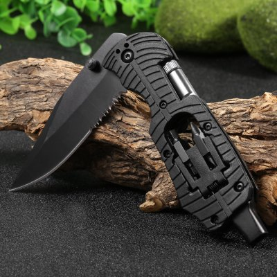 Multifunctional Liner Lock Folding Knife with Screw Heads / LED