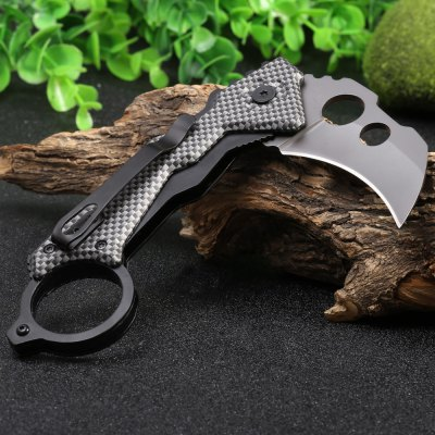 DA46 Liner Lock Foldable Claw Knife with Clip