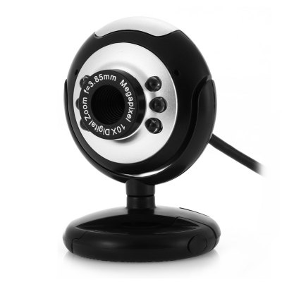 Webcam PC Camera with USB Port Adjustable Holder