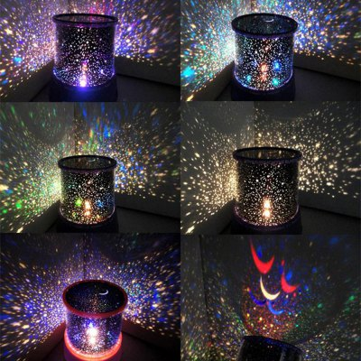 Star LED Night Light Projector Lamp Toy - 1pc