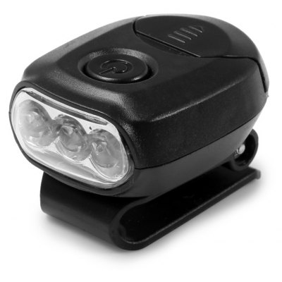 Mini clip sombrero luz faro con 3 luces LED