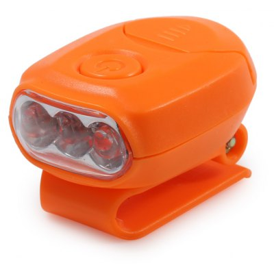 Mini Clip Hat Light Headlamp with 3 LED Lights